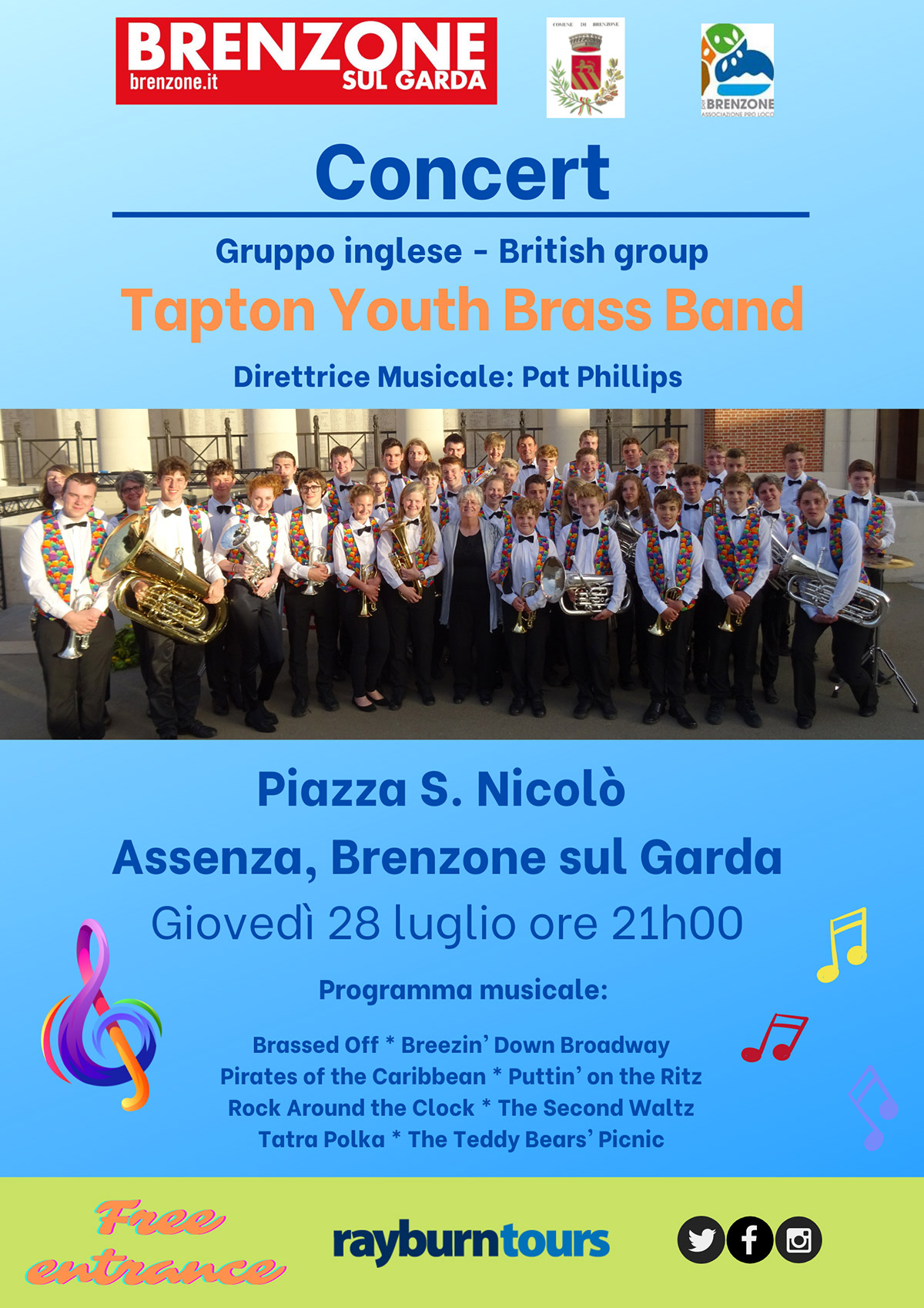 Youth Brass - english student band: 24.08.2018
